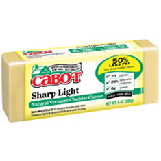 cabot sharp light cheese