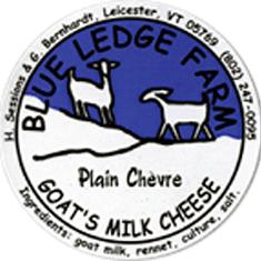 blue ledge farm plain chevre cheese