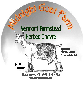 midnight goat farm vermont farmstead herbed chevre cheese