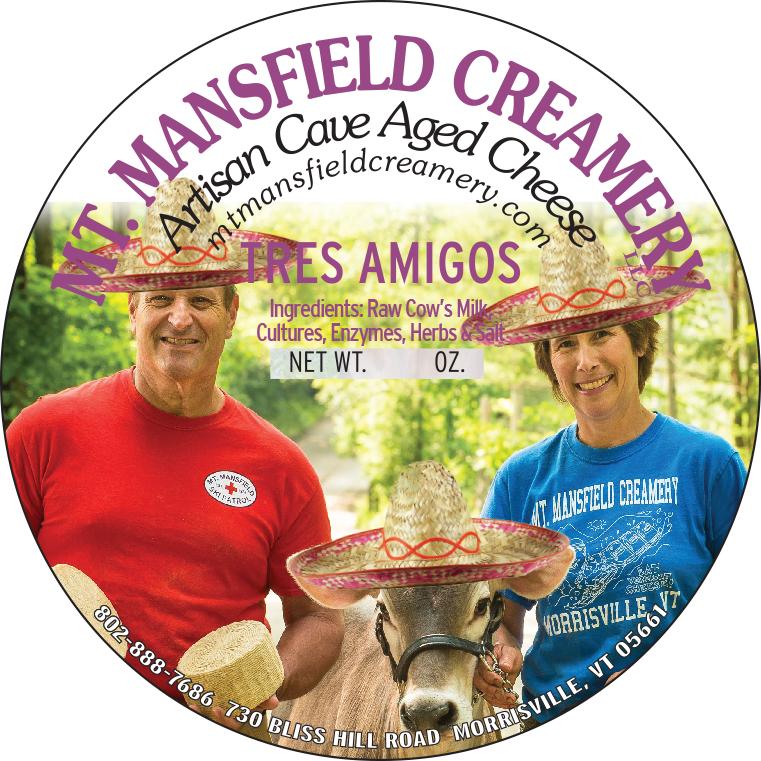 mt. mansfield creamery tres amigos cheese