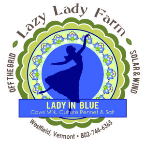 lazy lady farm lady in blue cheese