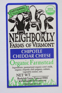 neighborly farms of vermont chipotle cheddar cheese