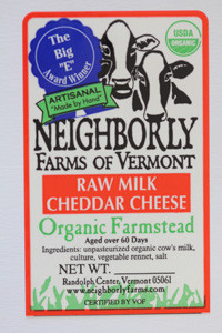 neighborly farms of vermont raw milk cheddar cheese